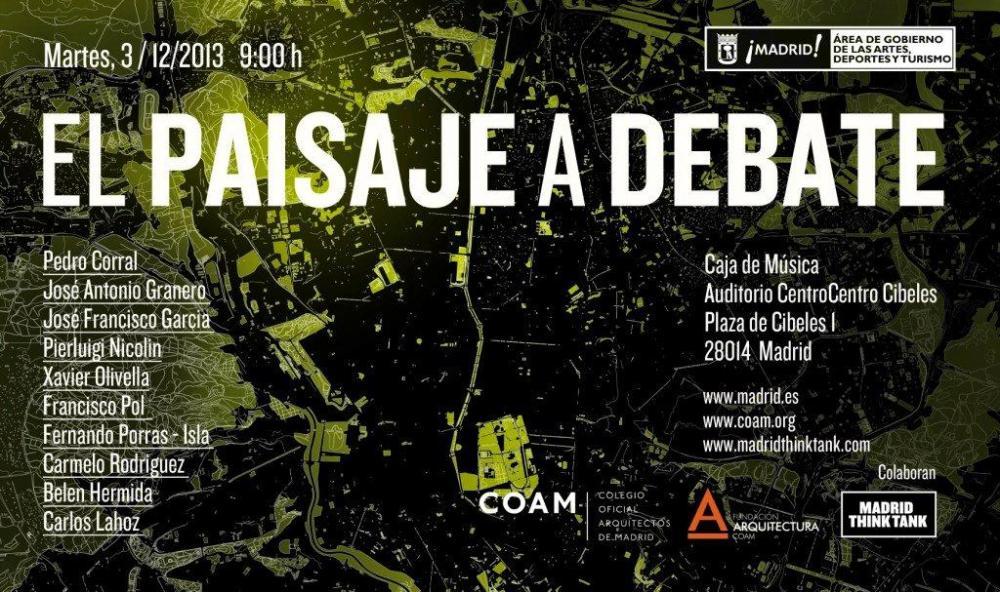 EL PAISAJE A DEBATE flyer